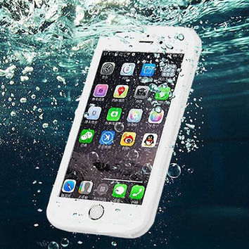 Waterproof Case Underwater Shockproof Durable Full Sealed Cover for  iPhone  8 7 7Plus & iPhone 6s 6 Plus Case +Gift Box