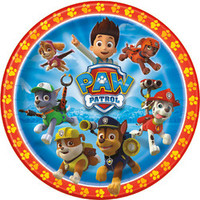 Paw Patrol Plates [9 Inches - 8 Per Pack]