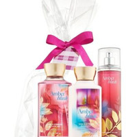 Bath & Body Works Amber Blush Gift Set - All New Daily Trio (Full-Sizes)