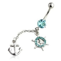 Anchor Belly Ring Long Sexy Dangle...