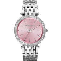 Stainless Steel Pink-Dial Darci Watch - Michael Kors