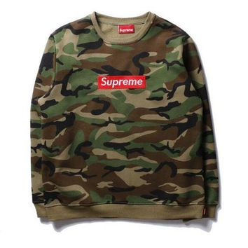 """Gotopfashion SUPREME camouflage men and women with a hoodie collar shirt pullover"""""""
