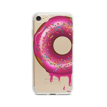 Dripping Donut iPhone 7 Case Clear