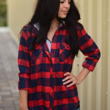 Your Favorite Flannel- Red