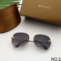 GUCCI trendy small bees round face big frame fashion visor female models mirror F-A-SDYJ NO.2