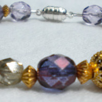 Royal Dreams Purple and Gold Bracelet