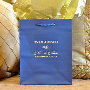 Personalized Wedding Welcome Gift Bags for OOT Guests - Set of 35