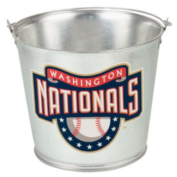 Washington Nationals Bucket: Galvanized 5 Quart Pail