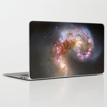 Bright nebula galaxy stars cluster hipster geek cool space star nebulae NASA photo sci-fi landscape Laptop & iPad Skin by iGallery