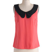 Retro Bike Ride Top in Coral