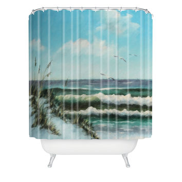 Rosie Brown Beach Dunes Shower Curtain