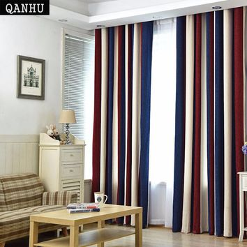 European style Color Curtains Nursery Drapery