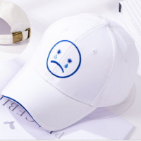 White Crying Embroidered Baseball Cap Hat