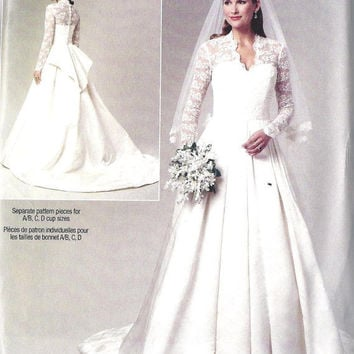 Wedding Dress Gown Sewing Pattern Kate by MissBettysAttic on Etsy