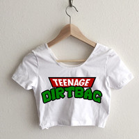 Teenage Dirtbag 90's Cartoon Print Women's Crop Top