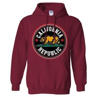California Republic Bear Emblem Asst Colors Sweatshirt Hoodie by DSC