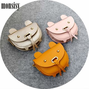 Monsisy Christmas Girl Coin Purse and Handbag Children Wallet Kawaii PU Leather Pig Kid Shoulder Bag Baby Boy Messenger Bag