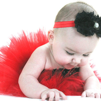 Red and black tutu dress baby Minnie Mouse first birthday photo prop baby shower costume flower girl 3-6 6-12 12-18-18-24 2T 3T