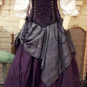 Renaissance Corset Dress purple Witch Wench custom Gown