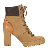 Claudia Lace-Up Hiker Booties