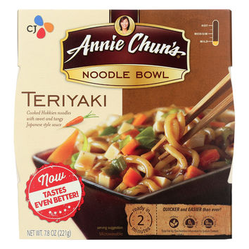Annie Chun's Teriyaki Noodle Bowl - Case of 6 - 7.8 oz.