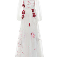 Floral Embroidered Tulle Ball Gown | Moda Operandi
