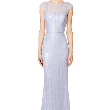 Badgley Mischka Lilac Petal Gown