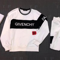 """""""Givenchy"""" Women Casual Fashion Letter Print  Multicolor Trousers Set Two-Piece Sportswear"""
