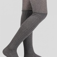 Plain Ribbed Knitted Stockings