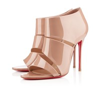 cachottiere 100mm nude patent leather