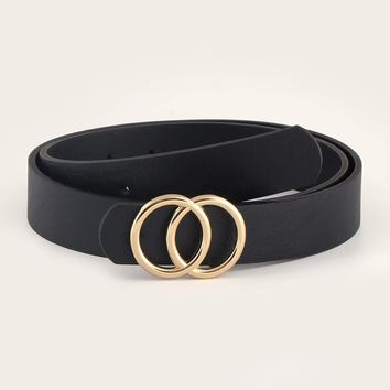 Double-O Ring Metal Buckle Belt