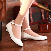 Women Pumps Ankle Straps Wedges High Heels Shoes