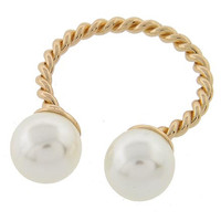 Knotty Pearl Ring