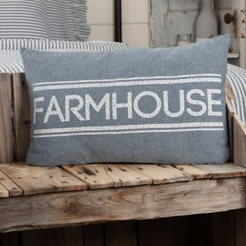 Sawyer Mill Blue Farmhouse Pillow