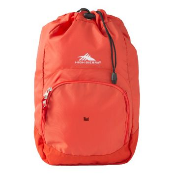 Custom High Sierra Backpack, Red Backpack