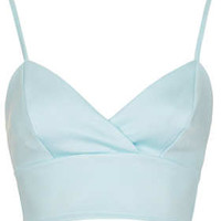Wrap Front Bralet - Ice Blue