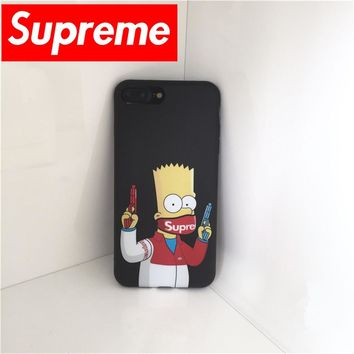 Fashion Simpson supreme gun soft cover For iPhone 7 case masked Simpson Case cover Case For iPhone 6 6s 7plus Capa Fundas Coque