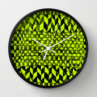 FREE-GEO XIV [GREEN] Wall Clock by Matthew White