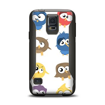 The Crazy Birds Samsung Galaxy S5 Otterbox Commuter Case Skin Set
