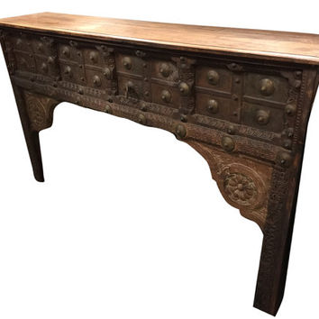 Antique Jaipur Arch Carved Frame,Antique Fireplace Console Indian Architectural Furniture