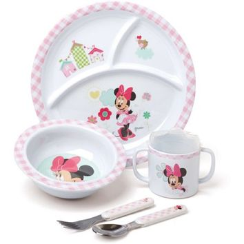 Disney Baby Minnie Mouse Melamine Set, BPA-Free