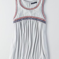 AEO Women's Embroidered High Neck Tank