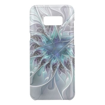 Flourish Abstract Modern Fractal Flower With Blue Get Uncommon Samsung Galaxy S8 Plus Case