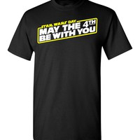 Star Wars May The 4th Be With You Tee Shirt T-Shirt Adult Kids