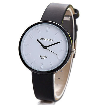 Womens Classic SportsLeather  Watch Girls Fashion Casual Watches Best Gift