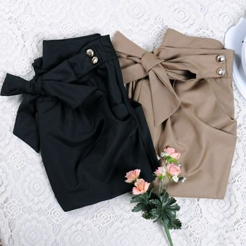 Womens Trendy Skinny Bow Pants