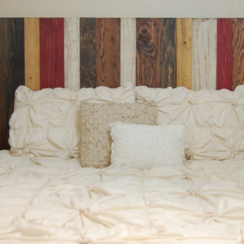 Barn Walls King / Cal King Headboard - Fall Mix Color. Hang on the wall like picture frames. Easy Installation