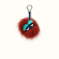FENDI | BLUEMINOUS CHARM in fur in shades of red