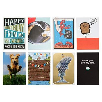 Hallmark Shoebox 8 Funny Birthday Card Assortment - Free Shipping
