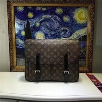 LV Louis Vuitton DAMIER GRAPHITE CANVAS CHRISTOPHER CROSS BODY BAG